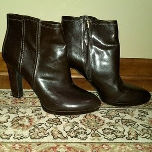 Franco Sarto dark brown booties size 10